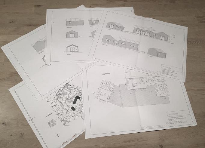 Bygglovshandlingar inklusive situationsplan